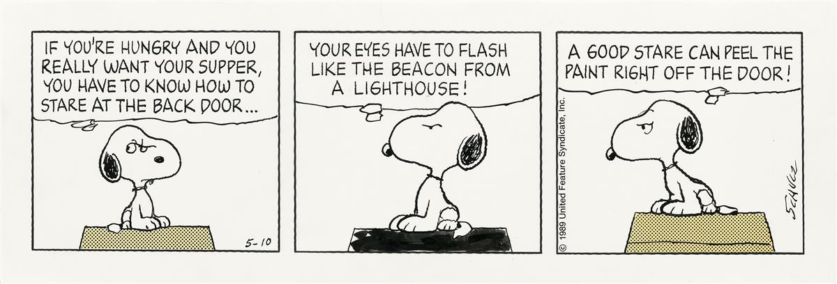 (CARTOON)  CHARLES SCHULZ. If Youre Hungry . . .