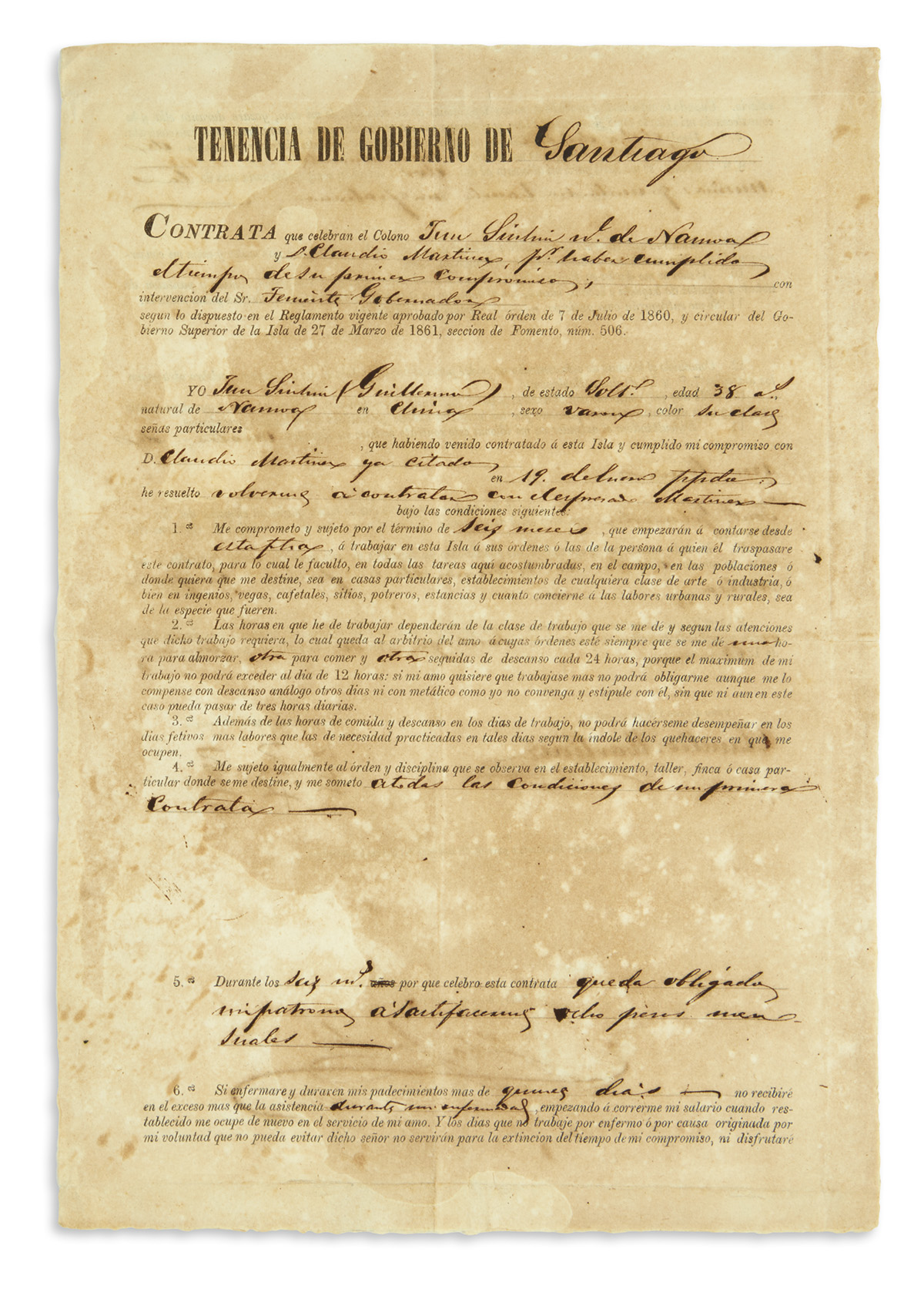 (CUBA)-Contract-for-an-indentured-Chinese-worker-in-Cuba