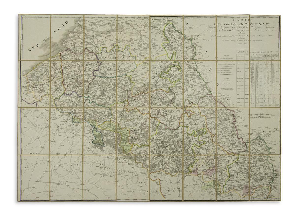 CHANLAIRE-PIERRE-GILES-Carte-des-Treize-Departements-Reunis-