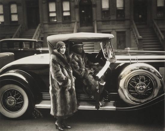 JAMES VANDERZEE (1886 - 1983) Couple, Harlem (Couple in Raccoon Coats).