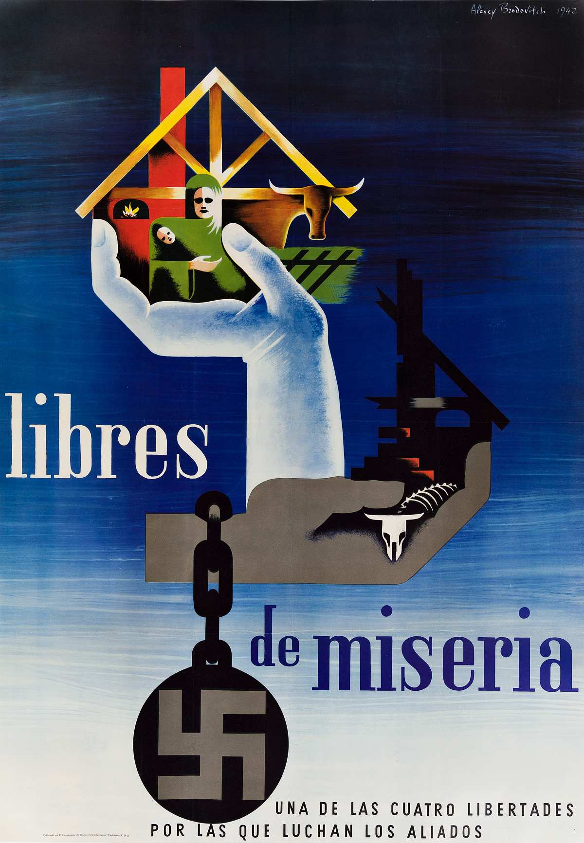 ALEXEY-BRODOVITCH-(1898-1971)-LIBRES-DE-MISERIA-1942-40x28-inches-101x71-cm-Office-of-the-Coordinator-of-Inter-American-Affairs-W