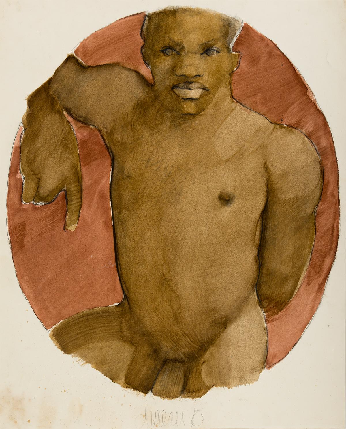 GEORGE-DUREAU-(1930-2014)-Portrait-of-a-Man