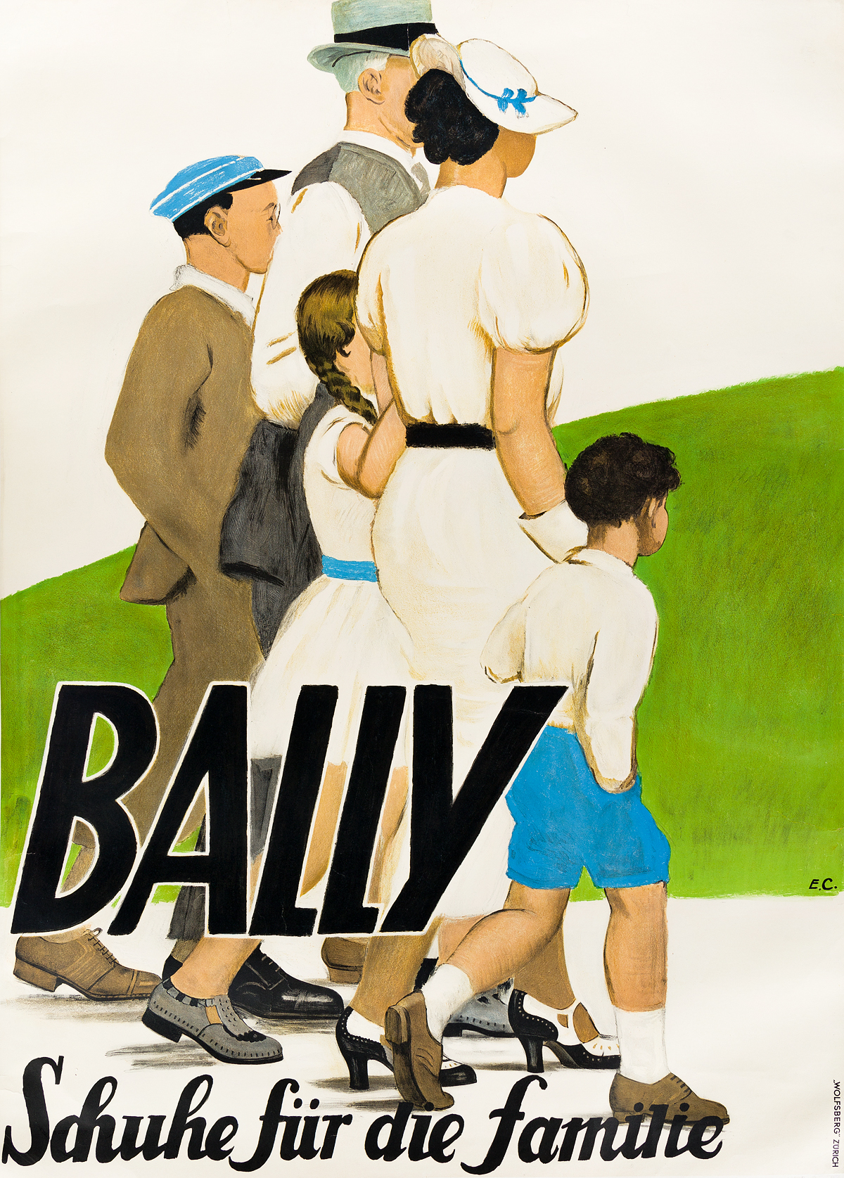 EMIL-CARDINAUX-(1877-1936)-BALLY--SCHUHE-FÜR-DIE-FAMILIE-1935-49x35-inches-126x90-cm-Wolfsberg-Zurich