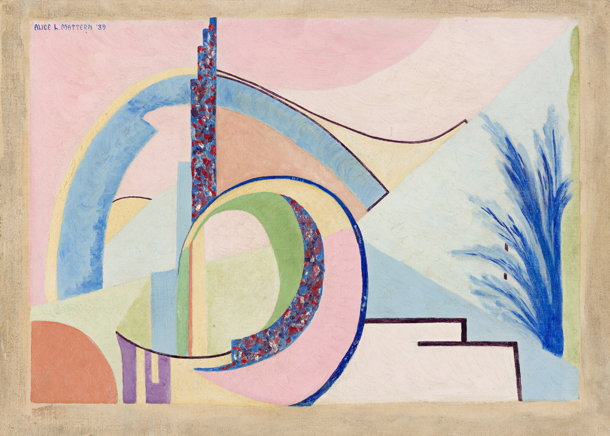 ALICE MATTERN (1909 - 1945, AMERICAN) Untitled, (Abstraction).