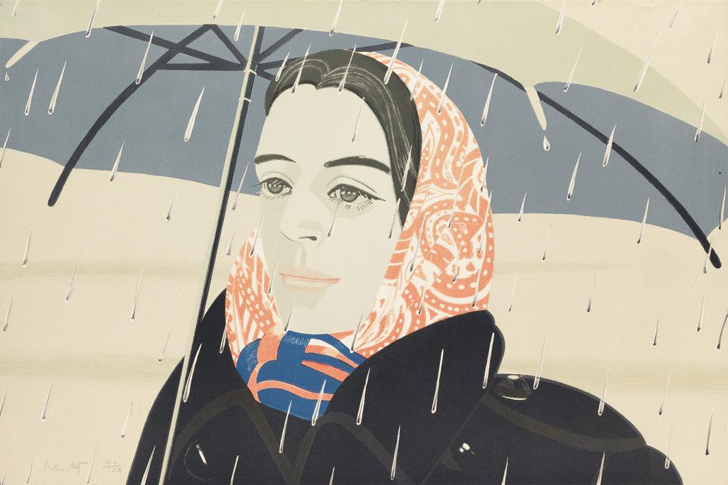 ALEX KATZ Blue Umbrella.