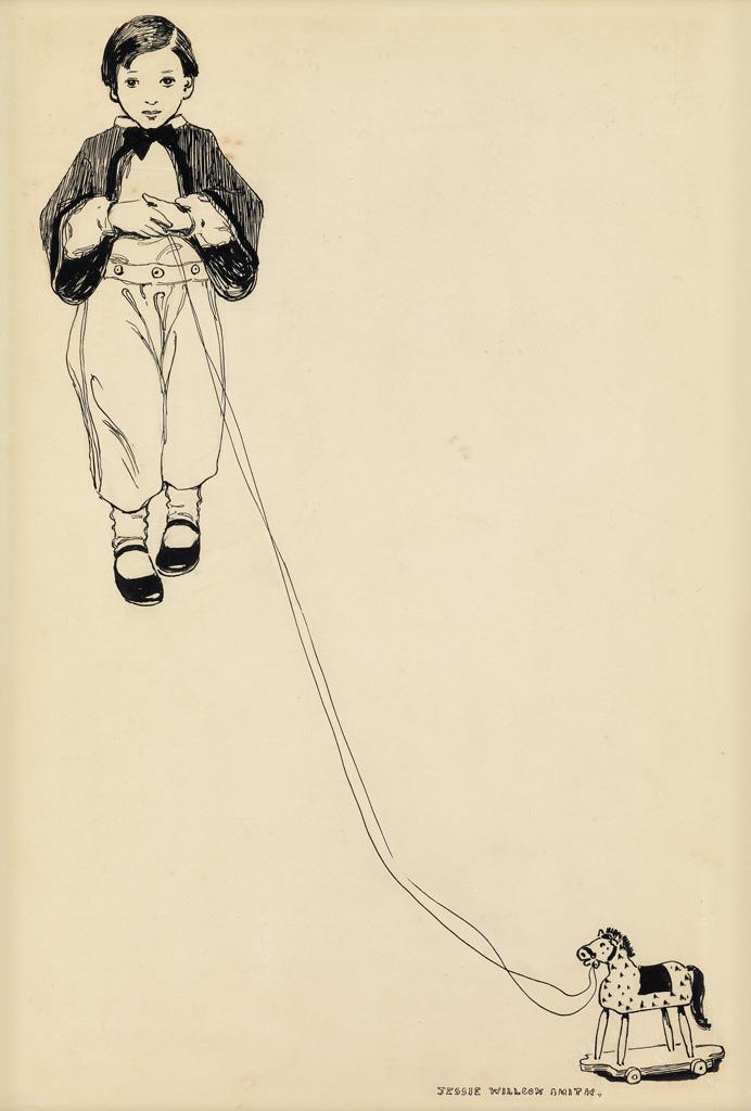 (CHILDRENS) JESSIE WILLCOX SMITH. Boy with Pull Toy.