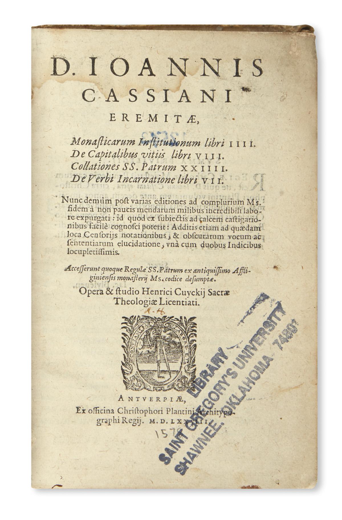 CASSIANUS-JOANNES-Monasticarum-Institutionum-libri-IIII--157