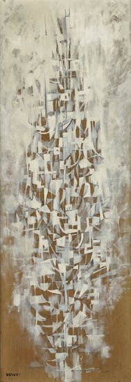 NORMAN LEWIS (1909 - 1979) Untitled (Vertical Abstraction).