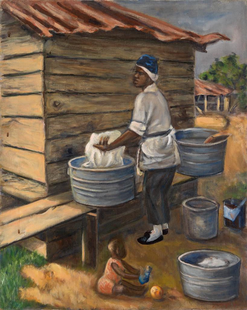 REX GORELEIGH (1902 - 1986) Wash Day.