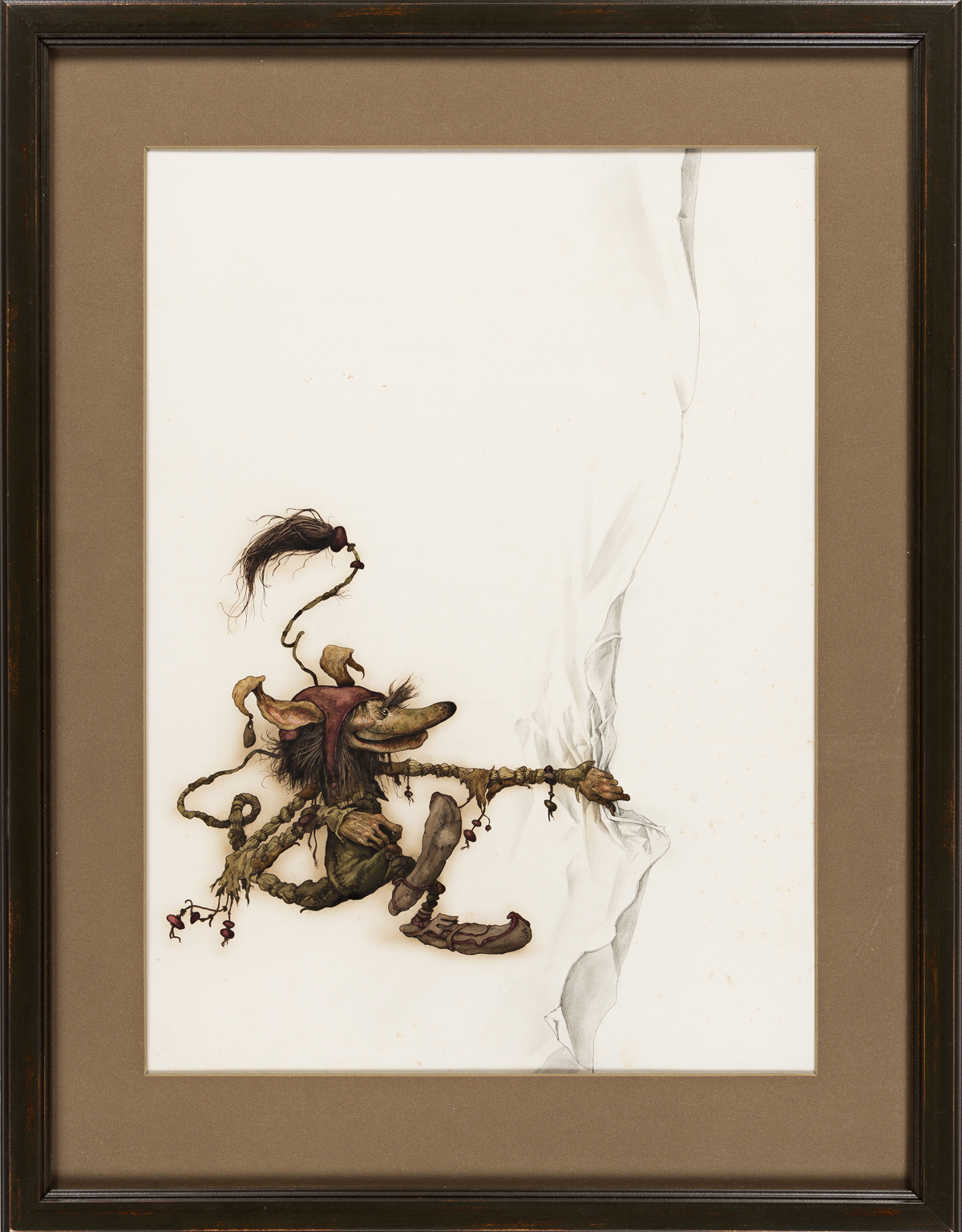BRIAN FROUD (1947- ) Peering elf. [CHILDRENS / FANTASY]