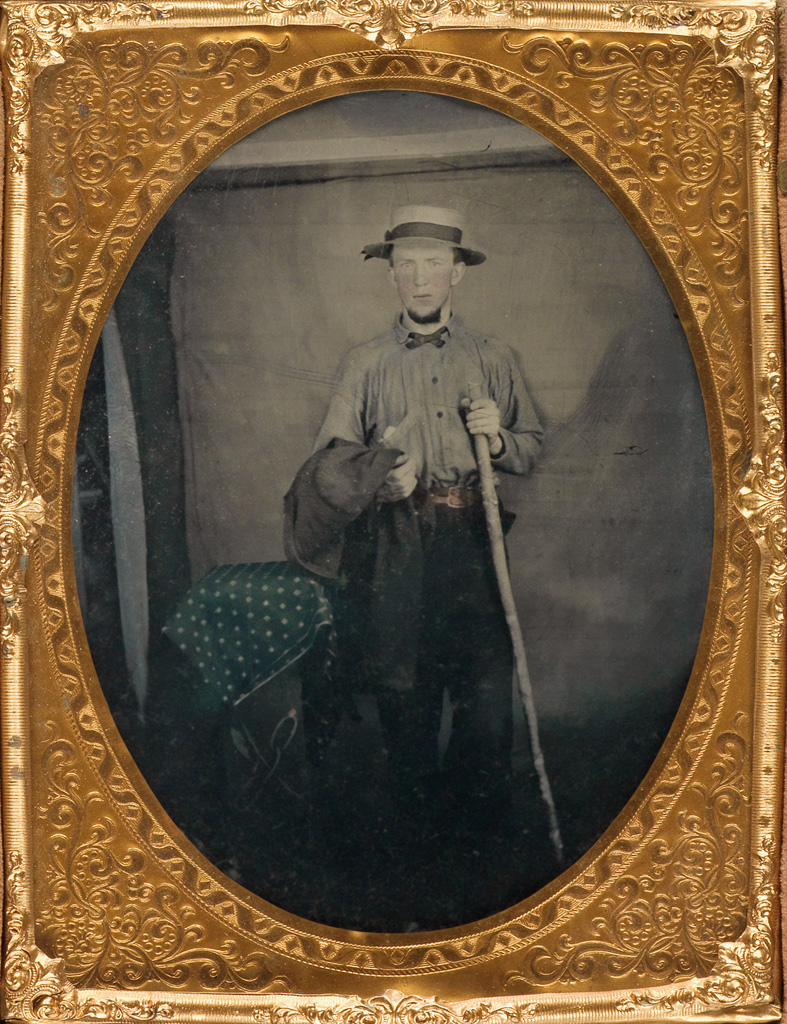 (AMBROTYPES) A group of approximately 57 handsome ambrotypes, comprising intimate portraits, occupational studies, outdoor scenes, and