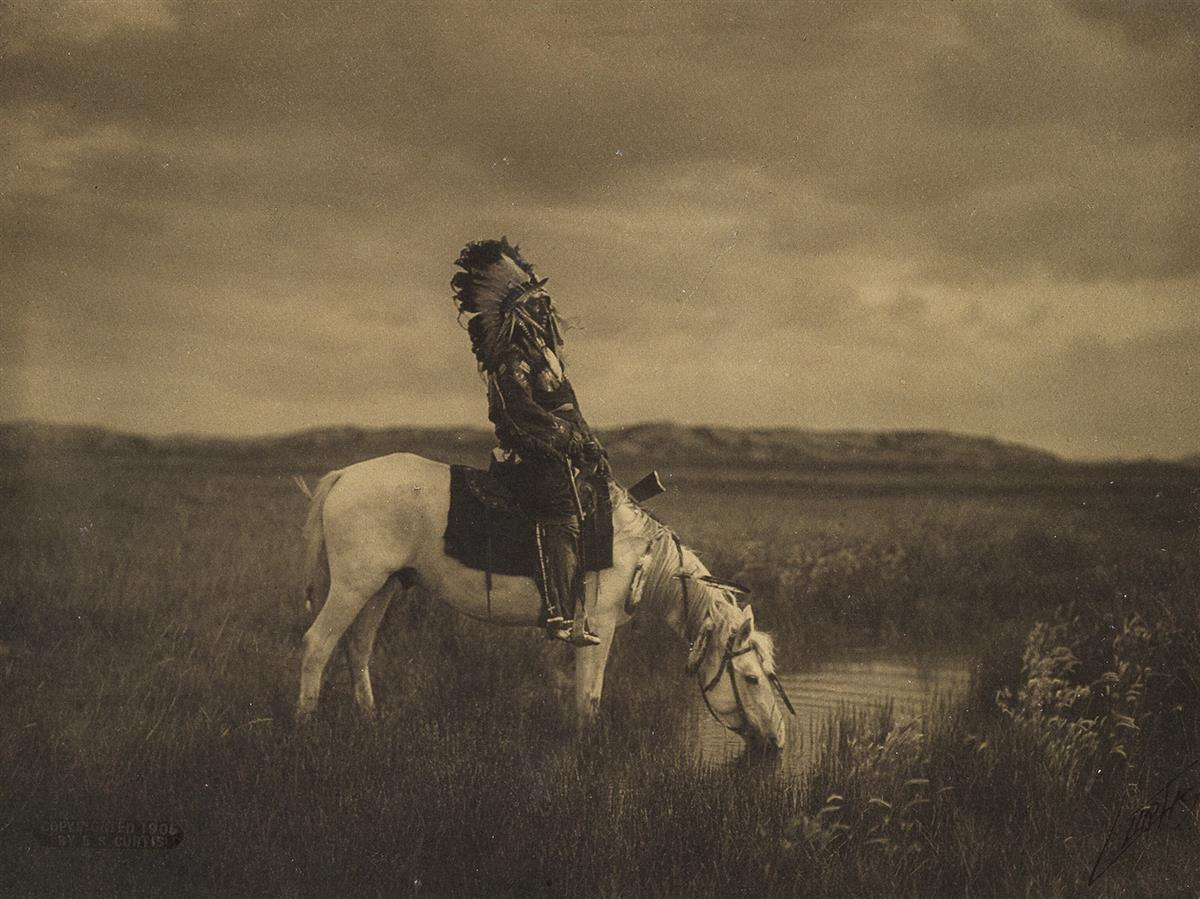 EDWARD-S-CURTIS-(1868-1952)-An-Oasis-in-the-Badlands