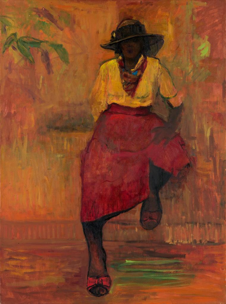 ARTHUR L. COPPEDGE (1938 - 2010) Untitled (Portrait of a Young Woman).