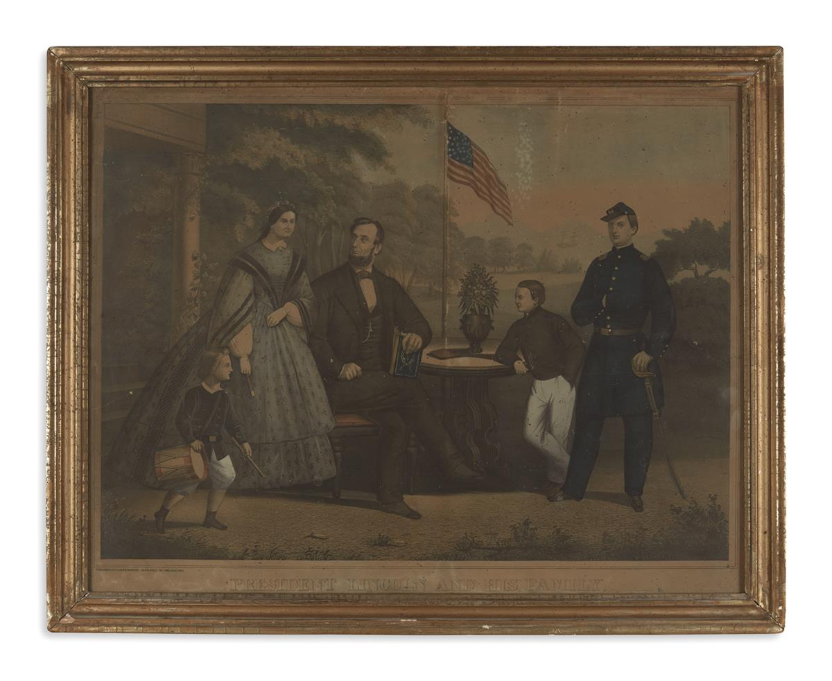 (PRINTS--FAMILY)-[Hohenstein-Anton]-President-Lincoln-and-hi
