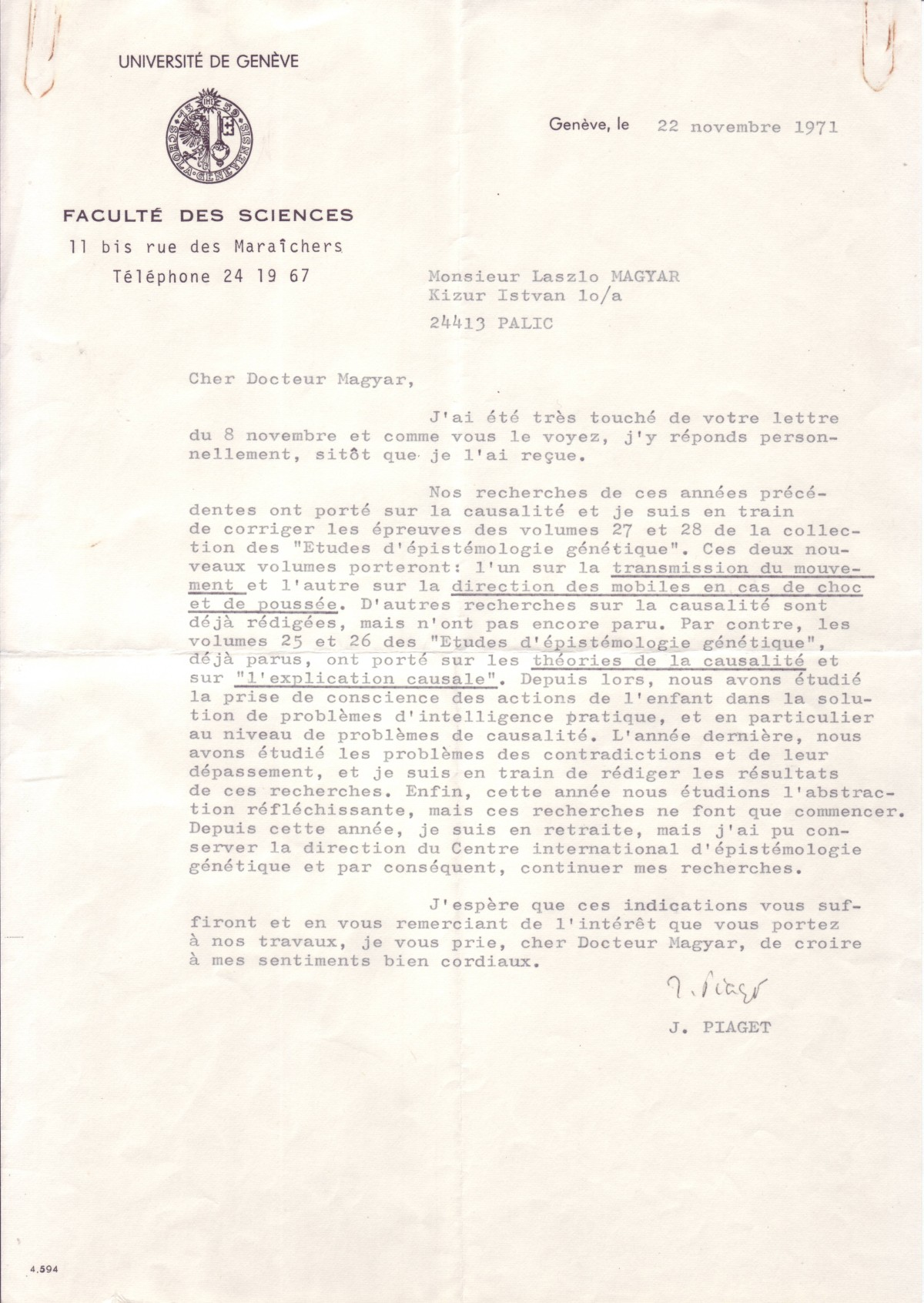 (SCIENTISTS)-PIAGET-JEAN-Typed-Letter-Signed-J-Piaget-to-Lás