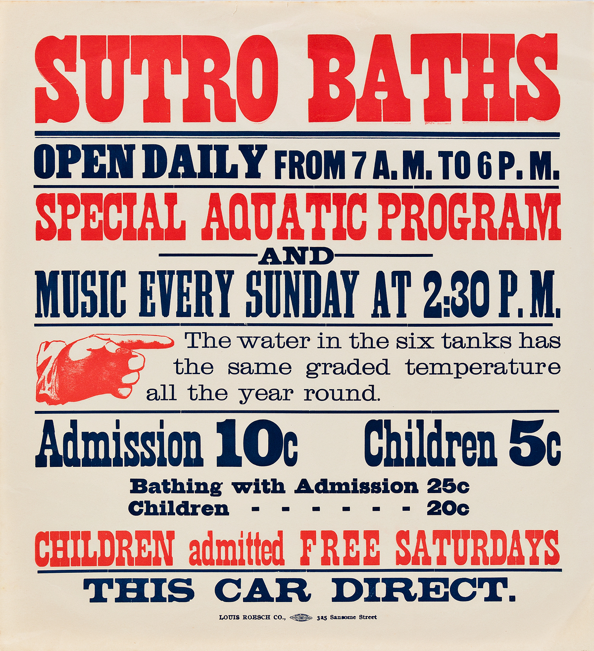 DESIGNERS-UNKNOWN-SUTRO-BATHS-Group-of-7-broadsides-1897-1901-Sizes-vary-each-approximately-16x16-inches-40x40-cm-Louis-Roesch-C