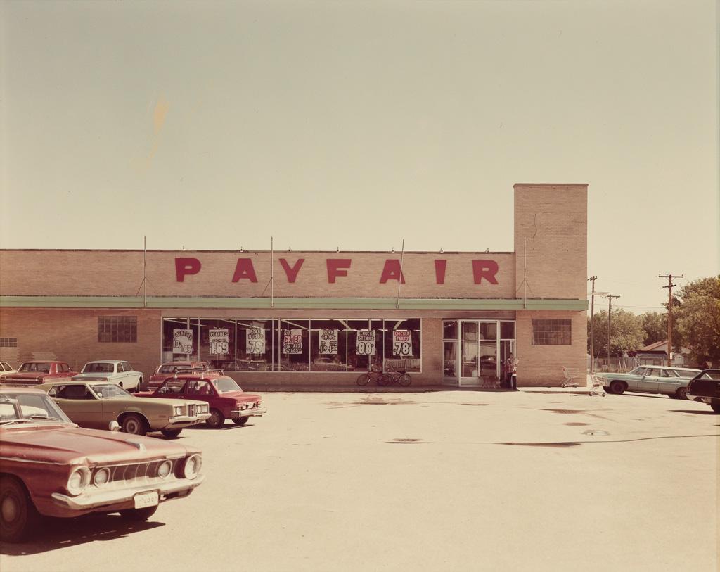 STEPHEN SHORE (1947- ) Payfair parking lot.