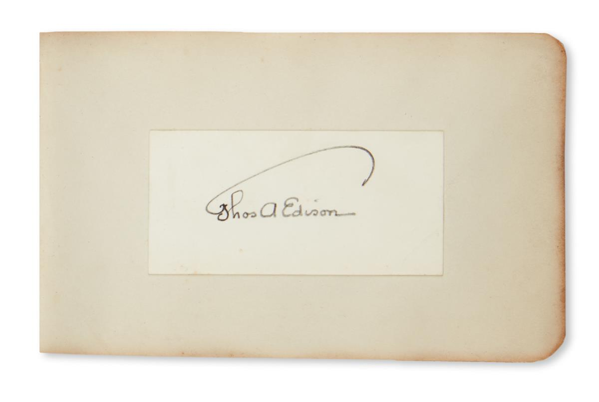 (ALBUM.) Autograph album containing over 80 items Signed, or Signed and Inscribed, by notables,