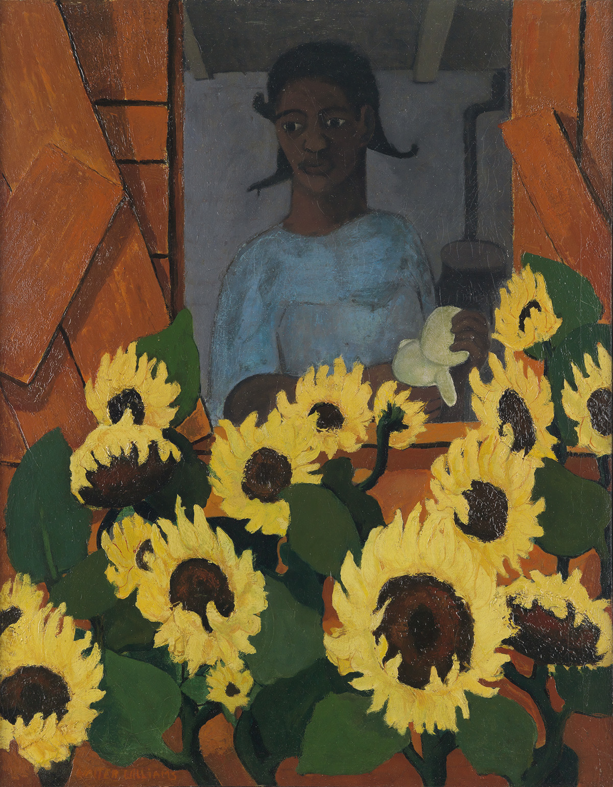 WALTER-WILLIAMS-(1920---1988)-Sunflower-Girl