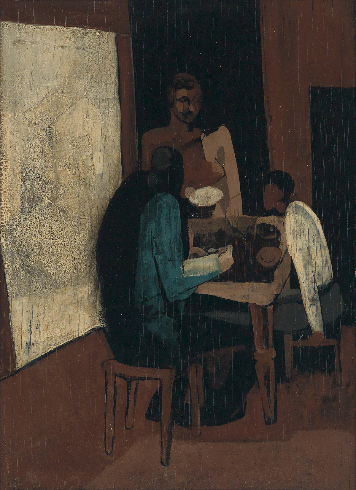 RONALD-JOSEPH-(1910---1992)-Untitled-(Family-at-the-Table)