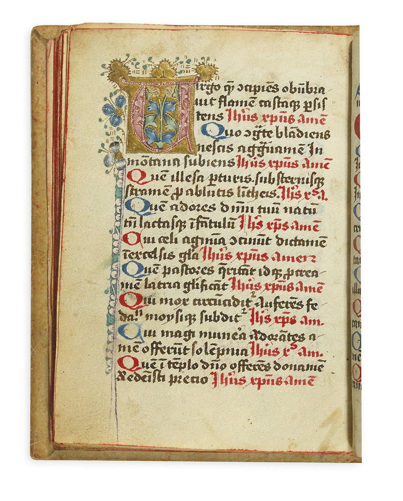 CATHOLIC-LITURGY--[Prayer-book]--Illuminated-manuscript-in-L