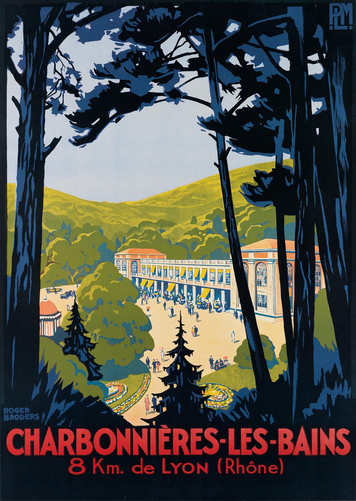 ROGER-BRODERS-(1883-1953)-CHARBONNIÈRES---LES---BAINS-Circa-
