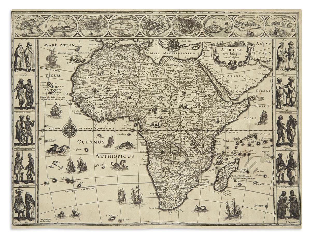 BLAEU, WILLEM. Africae Nova Descriptio.