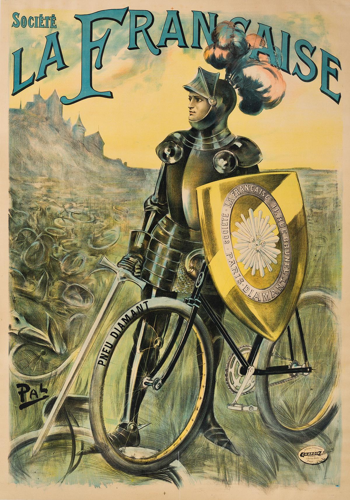 PAL (JEAN DE PALÉOLOGUE, 1860-1942). SOCIÉTÉ LA FRANCAISE. Circa 1899. 61x43 inches, 156x109 cm. Chardin, Paris.