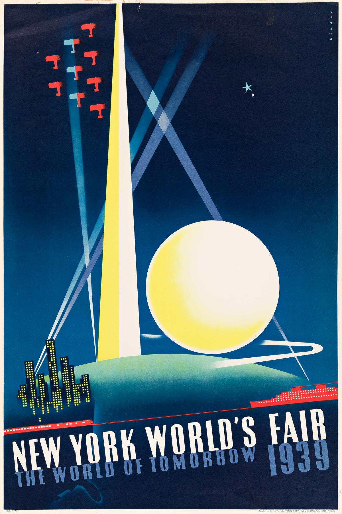 JOSEPH BINDER (1898-1972) New York Worlds Fair.