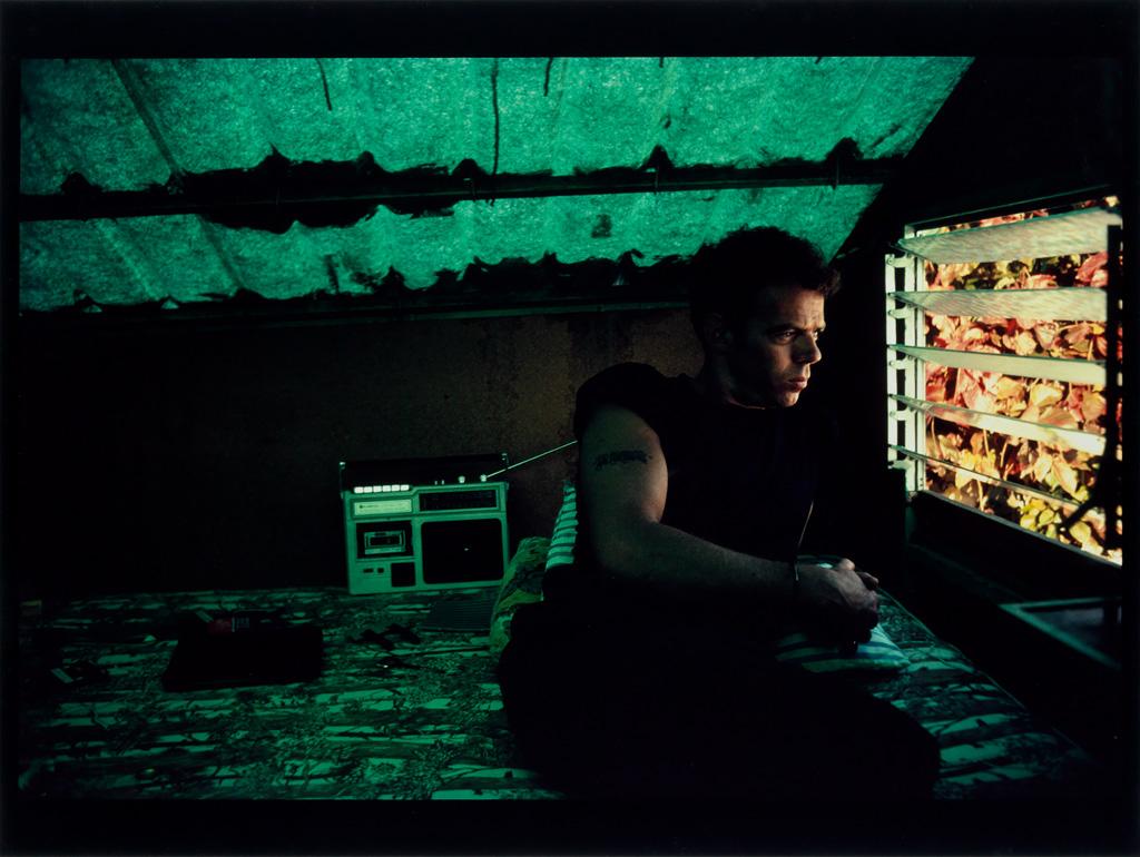 NAN GOLDIN (1953- ) Brian in the cabana, Puerto Juarez, Mexico.