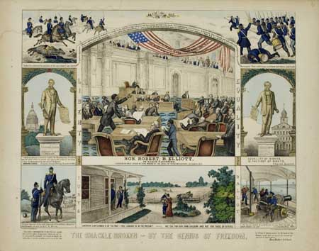 (SLAVERY AND ABOLITION.) [ELLIOTT, ROBERT B.] The Shackle Broken By the Genius of Freedom.