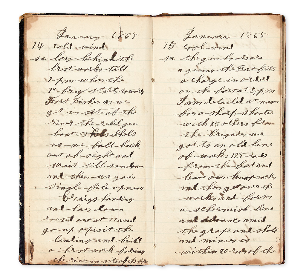 (CIVIL WAR--NEW YORK.) Casselman, Josiah R. Diaries of a Chautauqua County private at the Crater and Fort Fisher.