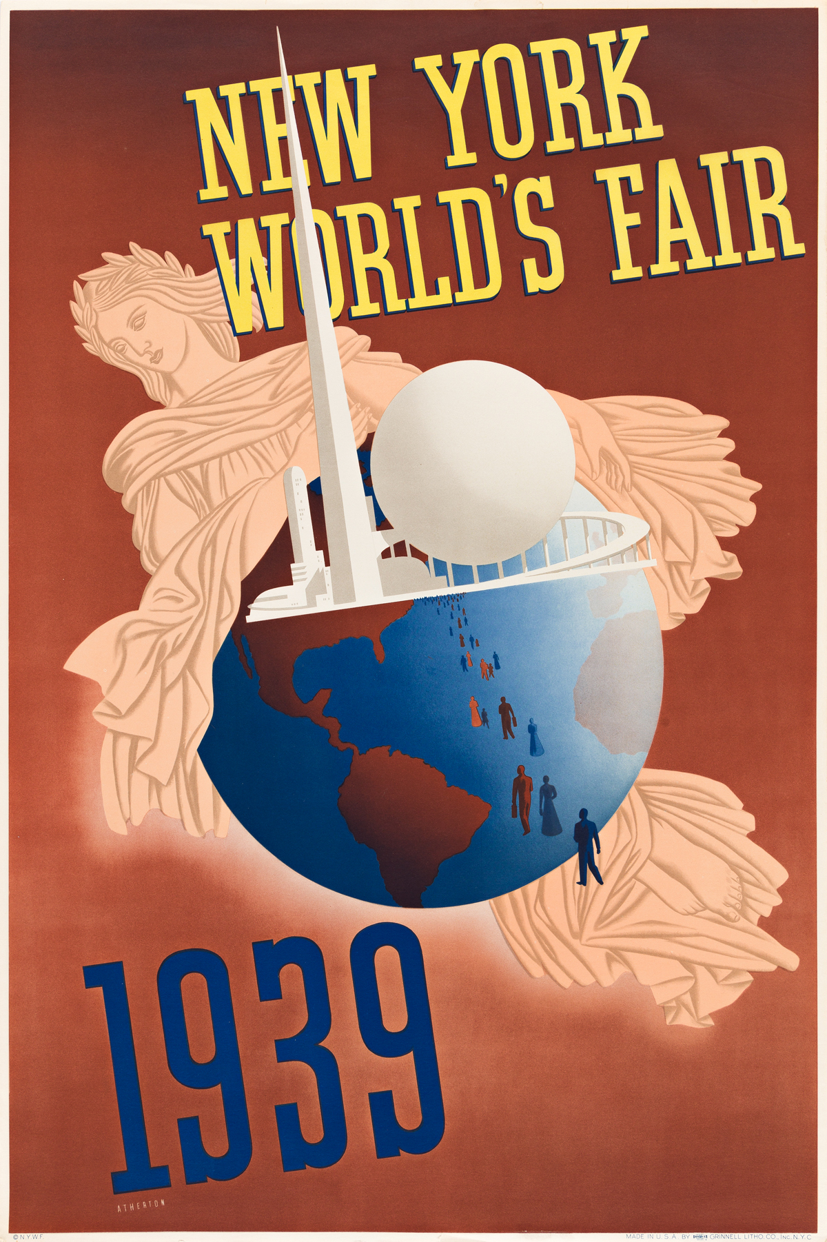 JOHN ATHERTON (1900-1952) New York Worlds Fair.
