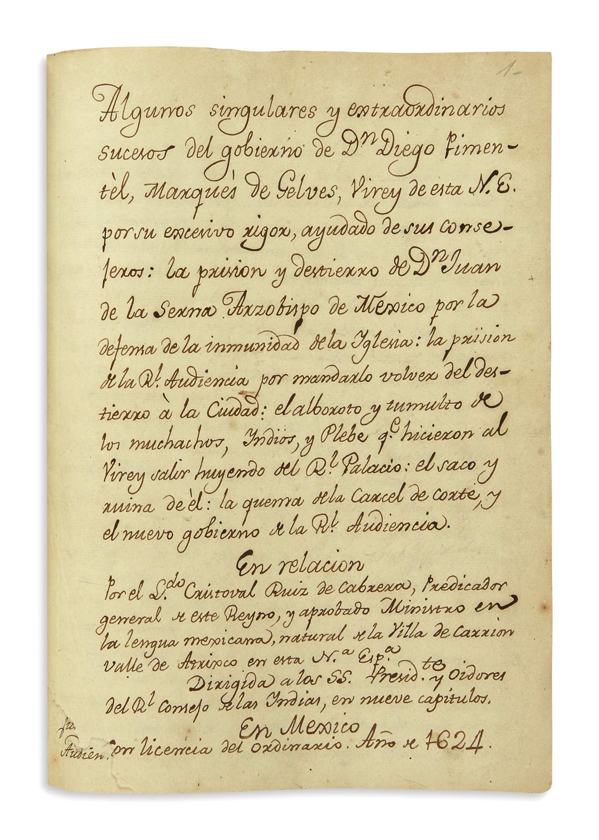 Opening page