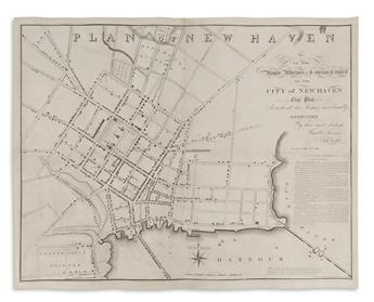 DOOLITTLE, AMOS. Plan of New Haven.