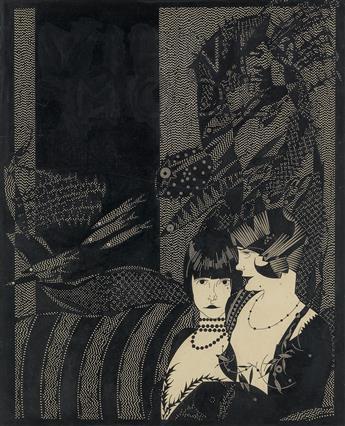 JULIUS KLINGER. Women on a Couch.