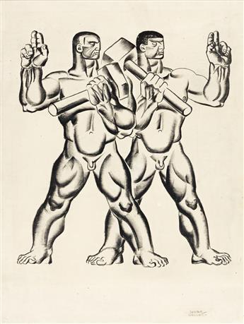 HUGO GELLERT (1892-1985) Karl Marx, Capital in Pictures: Plate 28.