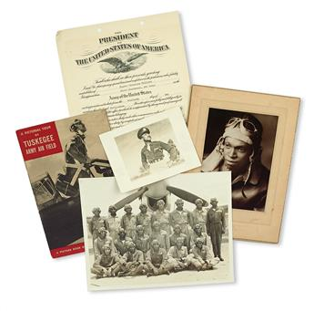 (MILITARY--WORLD WAR TWO.) TUSKEGEE AIRMEN. An extraordinarily rich archive of three Tuskegee Airmen: First Lieutenant Eugene W. Willia