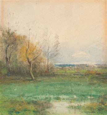 JOHN FRANCIS MURPHY Marsh Landscape with Trees.