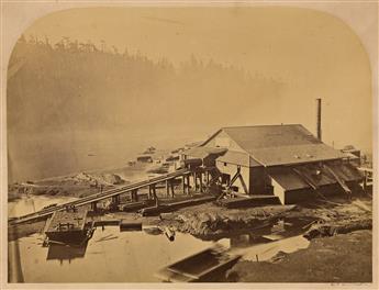 CARLETON E. WATKINS (1829-1916) A set of 14 photographs of Big River mills and sweeping scenes of Mendocino, California.