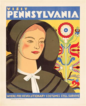 KATHERINE MILHOUS (1894-1977) Visit Pennsylvania / Where Pre - Revolutionary Costumes Still Survive.