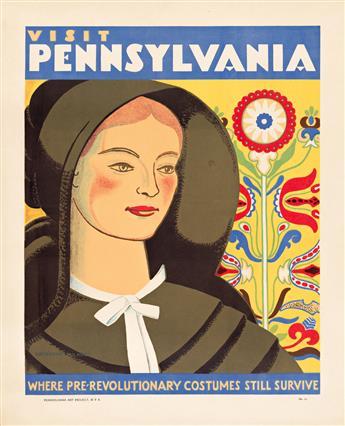 KATHERINE MILHOUS (1894-1977) Visit Pennsylvania / Where Pre - Revolutionary Costumes Still Survive.