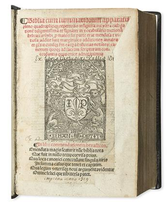 BIBLE-IN-LATIN--Biblia-cum-summariorum-apparatu-pleno-quadru