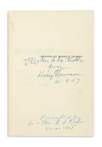 TRUMAN-HARRY-S-Memoirs-Each-volume-Signed-and-Inscribed-To-D