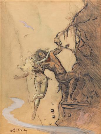 """KEN KELLY (1946- ) """"Flight to Opar."""""""