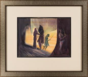 "JOHN COLEMAN BURROUGHS (1913-1979) ""John Carter of Mars."""