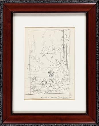 ROY KRENKEL (1918-1983) Sci-Fi / Fantasy idea rough. (SCIENCE FICTION / FANTASY]