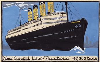 (ADVERTISING--NEW-YORK-CITY--OCEAN-LINERS--CUNARD--POST-CARD