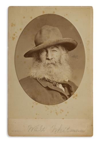 WILLIAM KURTZ (1833-1904) Walt Whitman.