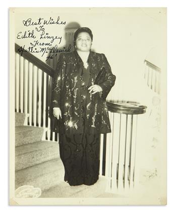 (ENTERTAINMENT--FILM.) Signed photo of Hattie McDa